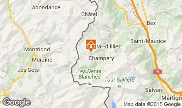Mapa Les Crosets Chalé 14794
