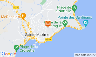 Mapa Sainte Maxime Vivenda 15881