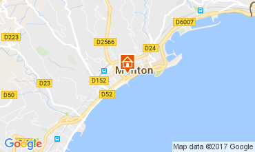Mapa Menton Apartamentos 107752