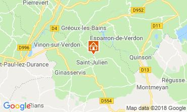 Mapa Gréoux Les Bains Casa 93624