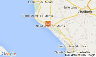 Mapa Saint Jean de Monts Apartamentos 75343