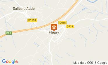 Mapa Fleury d'Aude Casa de turismo rural/Casa de campo 80368