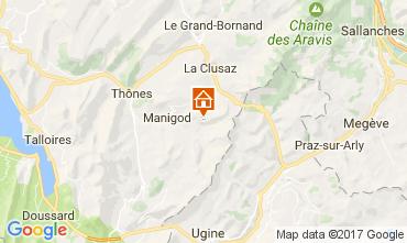 Mapa Manigod-Croix Fry/L'étale-Merdassier Apartamentos 108269