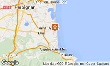 Mapa Saint Cyprien Plage Apartamentos 93159