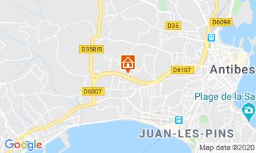 Mapa Juan les Pins Apartamentos 32363
