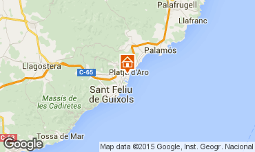 Mapa Playa d'Aro Apartamentos 77393