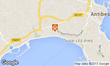 Mapa Juan les Pins Apartamentos 82884