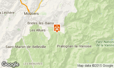 Mapa Courchevel Chalé 58837