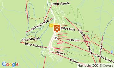 Mapa Les 2 Alpes Apartamentos 1135