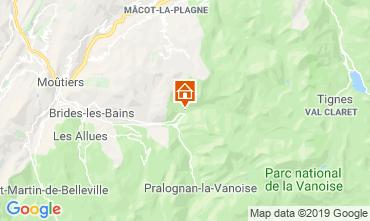 Mapa Champagny en Vanoise Chalé 577