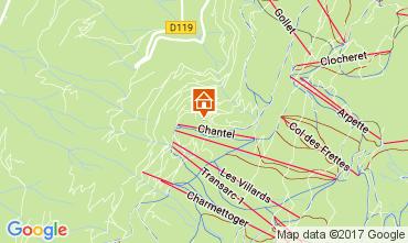 Mapa Les Arcs Apartamentos 111955