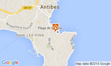 Mapa Antibes Apartamentos 105595