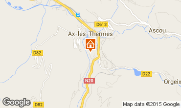 Mapa Ax Les Thermes Apartamentos 80178