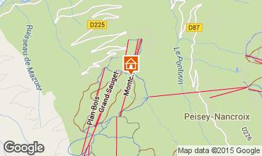 Mapa Montchavin les Coches Est�dio 14858